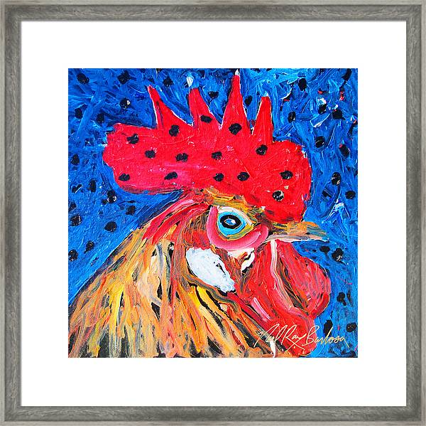 Good Luck Rooster Framed Print