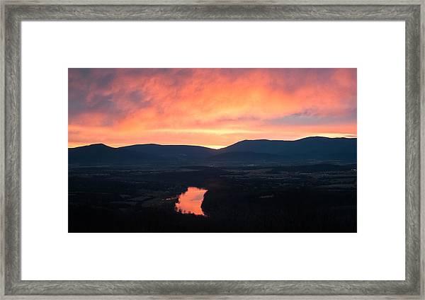 Good Morning Blue Ridge Framed Print