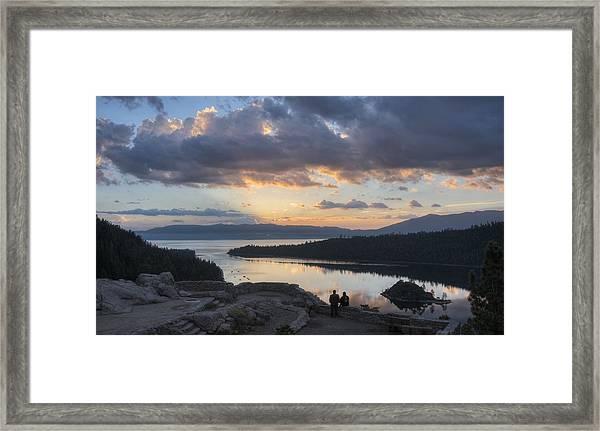 Good Morning Emerald Bay Framed Print