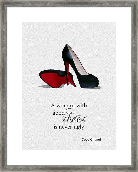 Good Shoes Framed Print