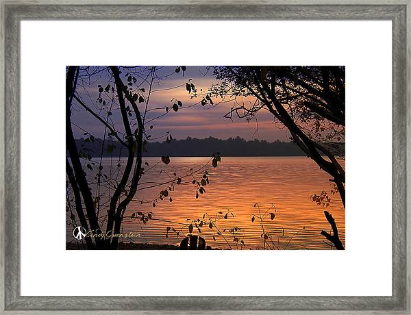 Goodnight Lake Framed Print