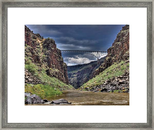 Gorge Bridge Framed Print