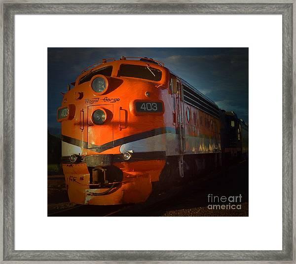 Gorge Train Framed Print
