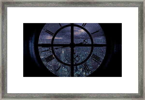 Gotham Viewed From Above Framed Print by Jackson Carvalho