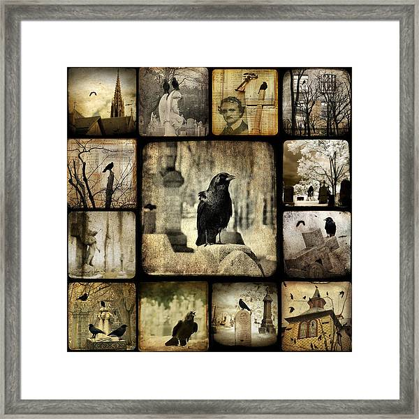 Gothic And Crows Framed Print