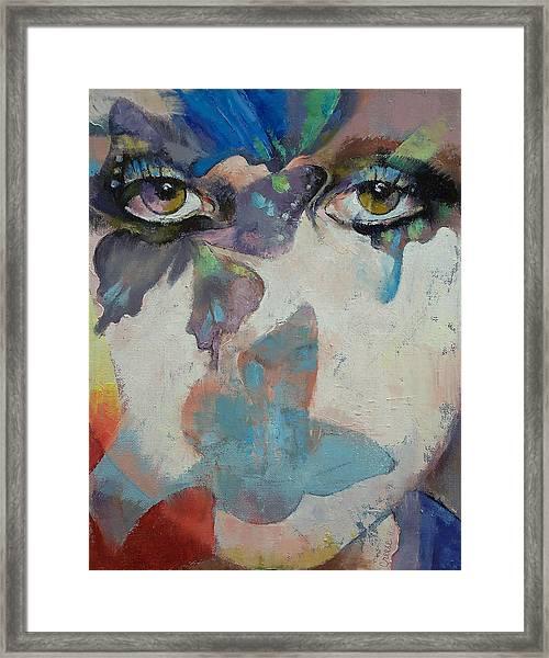 Gothic Butterflies Framed Print