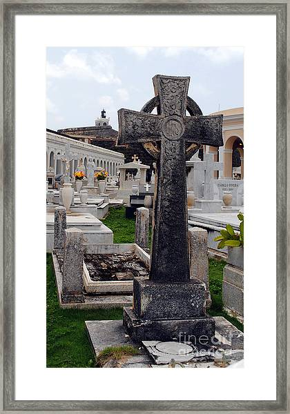 Gothic Cross Framed Print