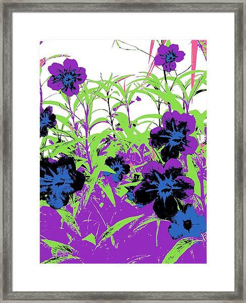 Gothic Garden Orchid Framed Print