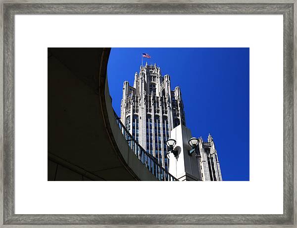 Gothic Tribune Tower Curve Framed Print