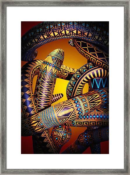 Gourd Snake Framed Print