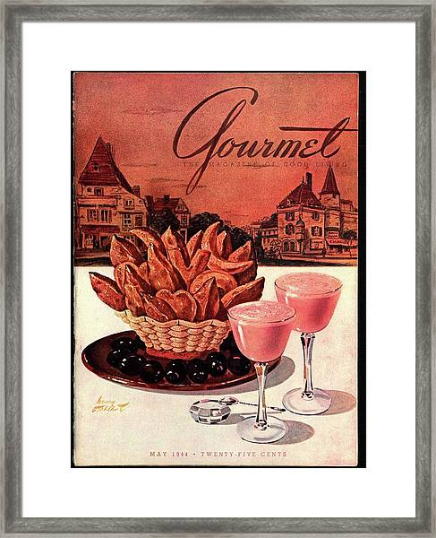 Gourmet Cover Featuring A Basket Of Potato Curls Framed Print