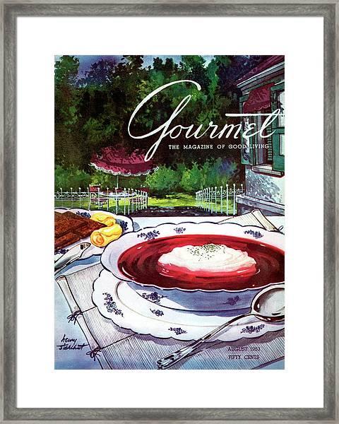 Gourmet Cover Featuring A Bowl Of Borsch Framed Print