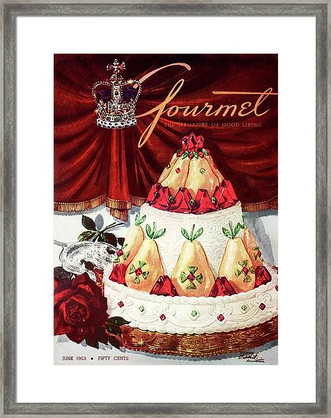 Gourmet Cover Featuring A Cake Framed Print