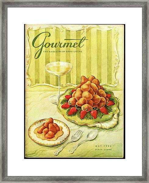 Gourmet Cover Featuring A Plate Of Beignets Framed Print