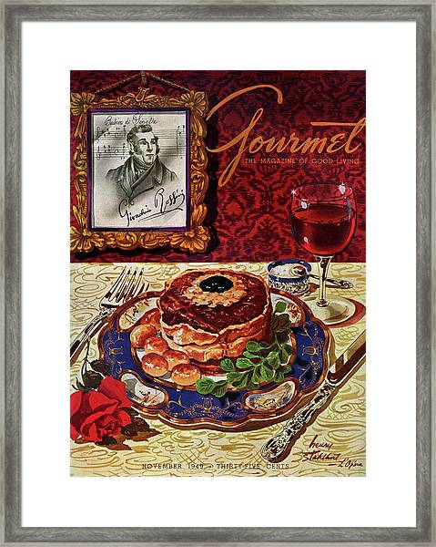 Gourmet Cover Featuring A Plate Of Tournedos Framed Print