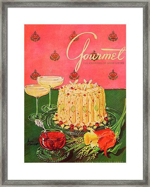 Gourmet Cover Illustration Of A Molded Rice Framed Print