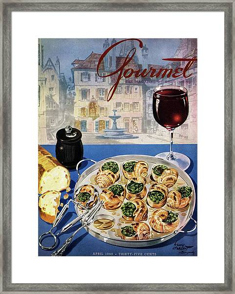 Gourmet Cover Illustration Of A Platter Framed Print