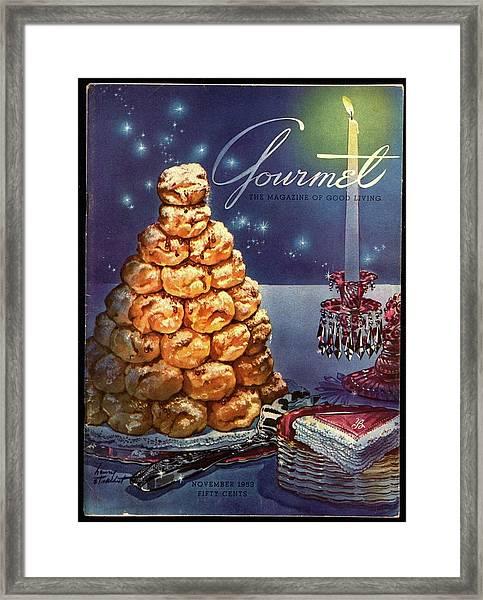 Gourmet Cover Illustration Of Croquembouche Framed Print