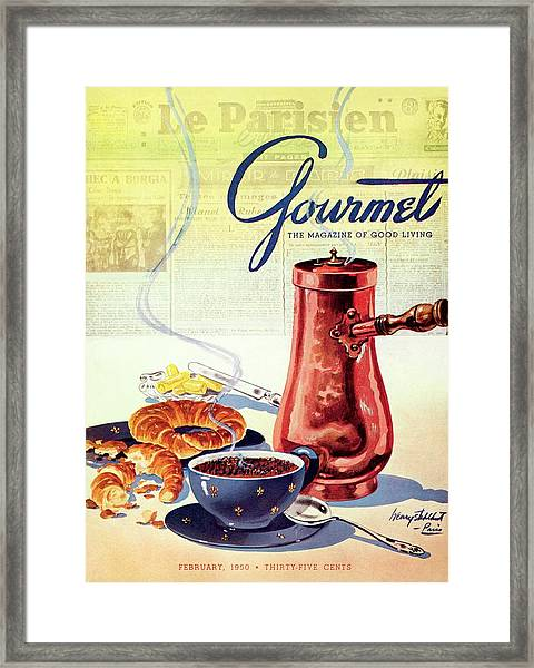 Gourmet Cover Of A French Breakfast Framed Print