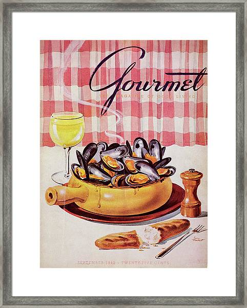 Gourmet Cover Of A Mussel Pot Framed Print