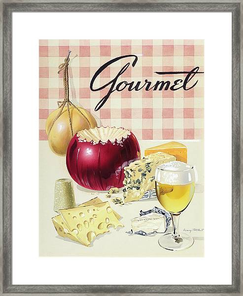 Gourmet Cover Of Cheeses Framed Print