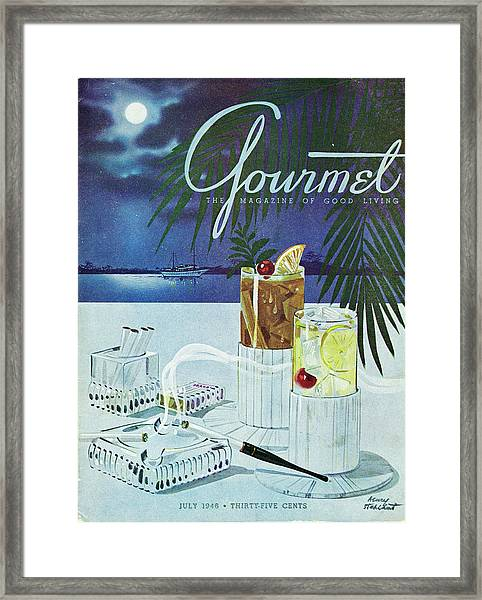 Gourmet Cover Of Cocktails Framed Print