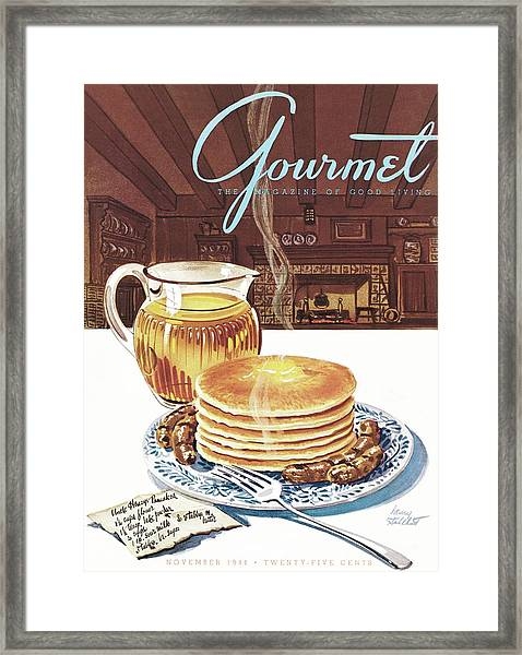 Gourmet Cover Of Pancakes Framed Print