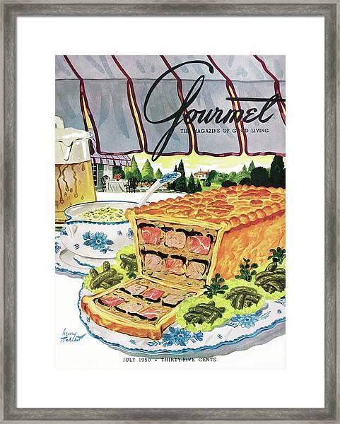 Gourmet Cover Of Pate En Croute Froid Framed Print