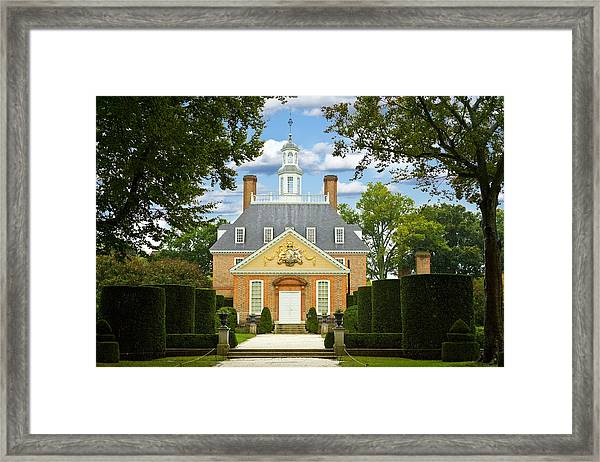 Governors Palace Framed Print