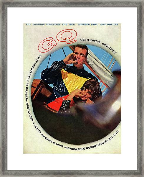 Gq Cover Featuring A Model Wearing A Plastic Framed Print