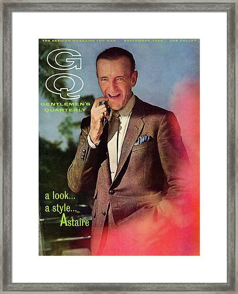 Gq Cover Featuring Fred Astaire Framed Print by Chadwick Hall