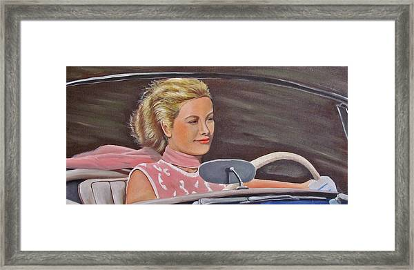 Grace Kelly - To Catch A Thief Framed Print