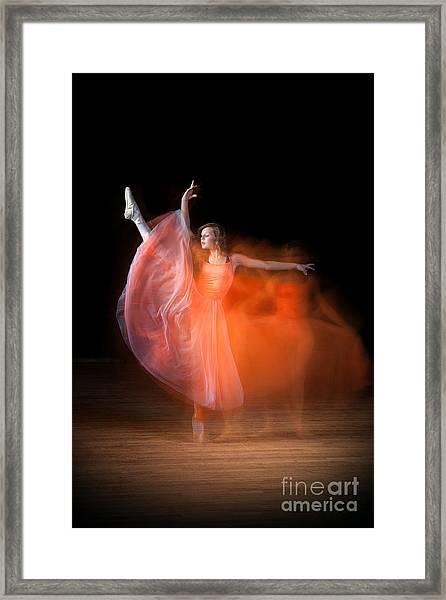 Graceful Ballerina Spirit Dance Framed Print