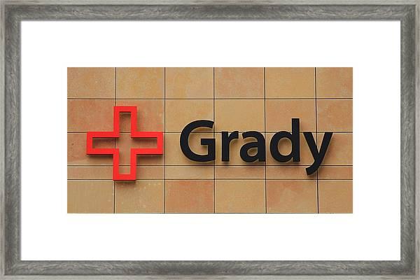 Grady Hospital Atlanta Georgia Art Framed Print