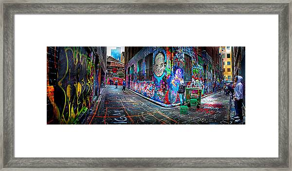 Graffiti Artist Framed Print