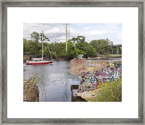 Graffiti Bridge Image Art Framed Print