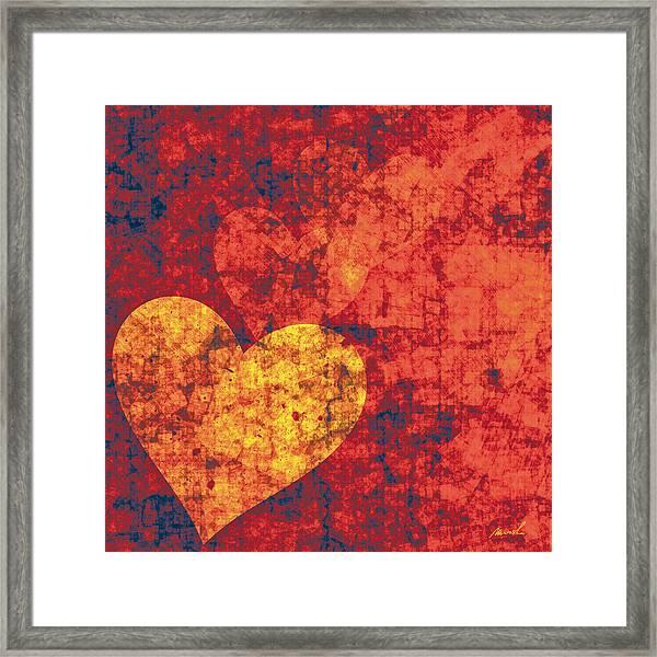 Graffiti Hearts Framed Print