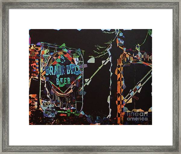 Grain Belt Collage Framed Print