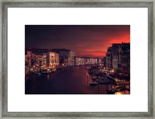 Gran Canal Framed Print by Jose Garcia