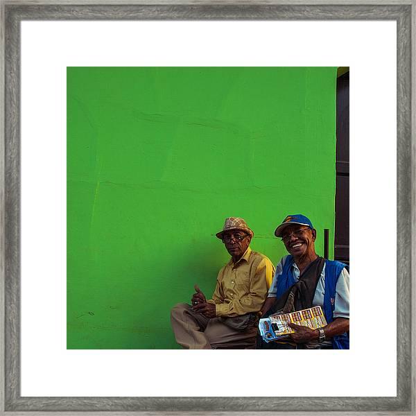 Granada Green Framed Print