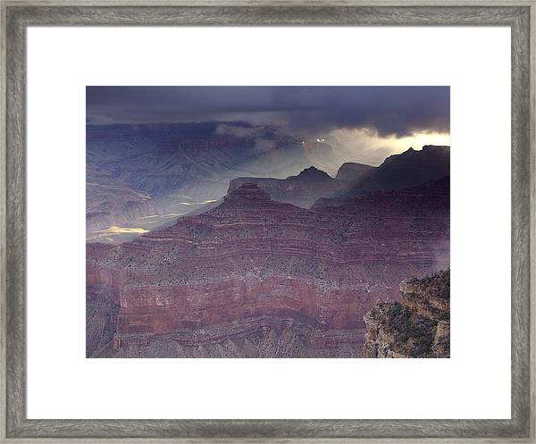 Grand Canyon - Clearing Storm Framed Print by Richard Berry