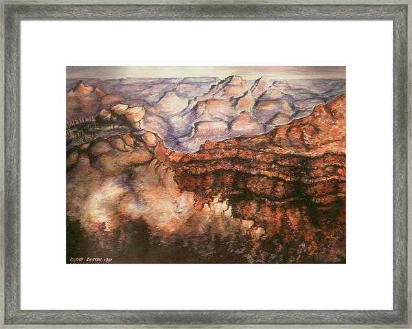 Grand Canyon Arizona - Landscape Art Painting Framed Print