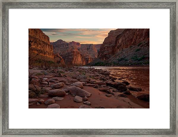 Grand Canyon Bottom Framed Print