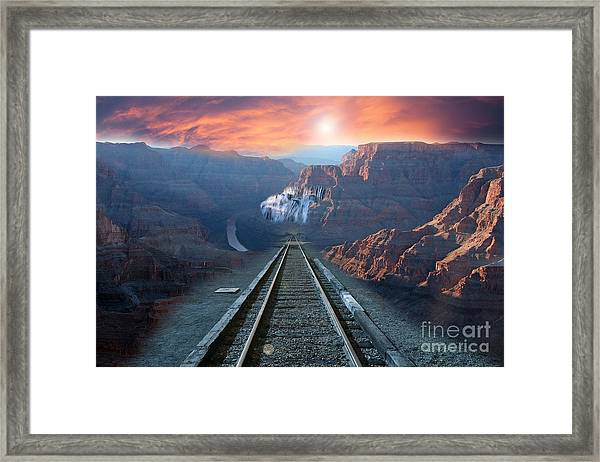 Grand Canyon Collage Framed Print