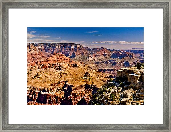 Grand Canyon Painting Framed Print