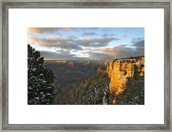 Grand Canyon. Winter Sunset Framed Print
