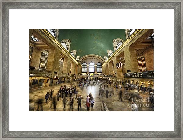 Grand Central Rush Framed Print