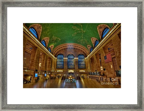 Framed Print featuring the photograph Grand Central Station by Susan Candelario