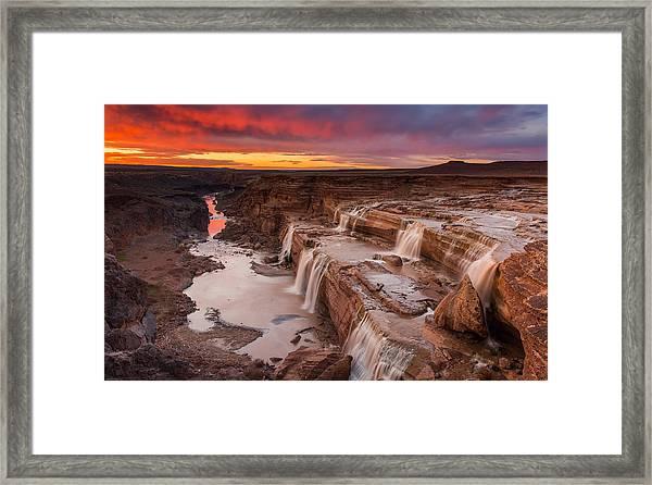 Grand Falls Framed Print