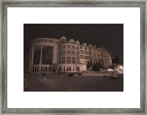 Grand Hotel On A Winter Night Framed Print